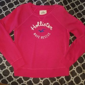 Hollister sweat shirt, pink, large